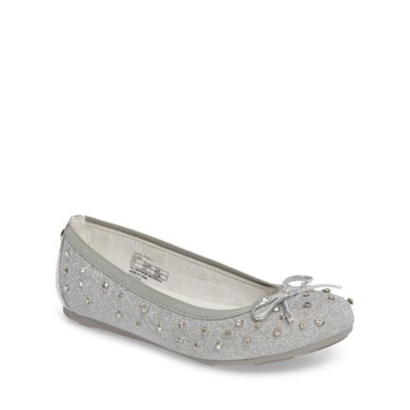 Fannie Sparkle Ballet Flat Silver